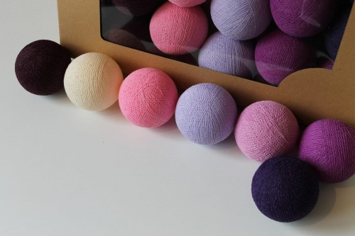 COTTON BALLS DARK BERRY