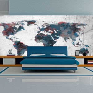 Fototapeta XXL - World map on the wall