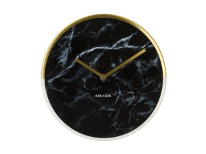 Zegar ścienny Marble Delight gold black by Karlsson