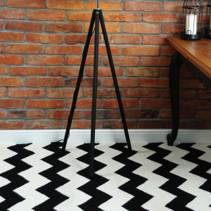 Dywan CHEVRON BLACK WHITE II