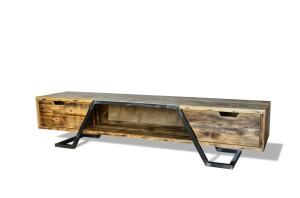 d44ea635d627 Szafka RTV drewniana dwie szuflady i półka niska