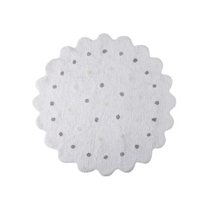 Dywan do prania w pralce LORENA CANALS Galletita Blanco/White