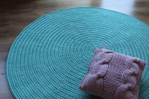 Dodatkowe Dywan ręcznie tkany, okrągły, Morski - Bogate Wnętrza JJ55