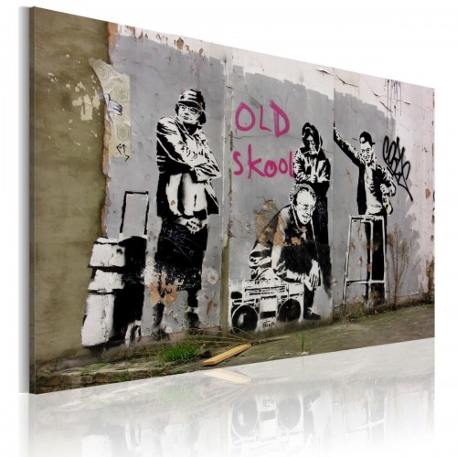 Obraz - Old school (Banksy)