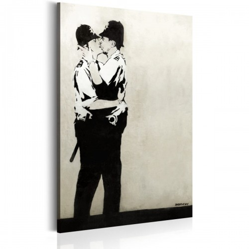 Obraz - Kissing Coppers by Banksy