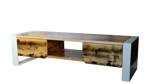 fb933dd6908a Szafka RTV drewno 2 szuflady i półka - Bogate Wnętrza