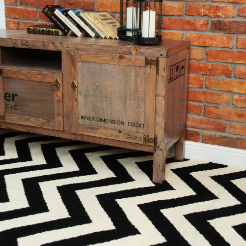 Dywan CHEVRON BLACK WHITE I