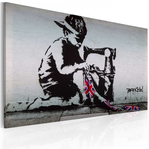 Obraz - Union Jack Kid (Banksy)