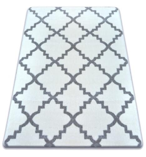 Dywan Koniczyna Marokańska Biało Szary Trellis Sketch F343 Dywany łuszczów