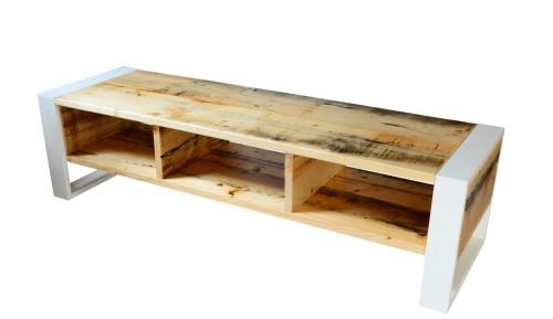 4fa36b014c91 Szafka RTV drewno otwarte półki - Bogate Wnętrza