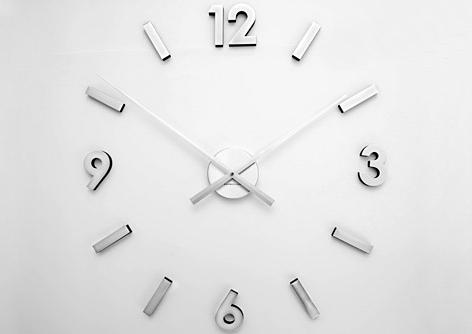 Naklejany Zegar ścienny Diy Extender Silver