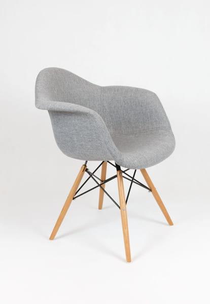Krzesło Tapicerowane Z Podłokietnikami Szare Muna Bogate Wnętrza