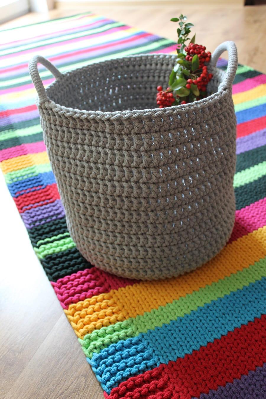Dywan Ręcznie Robiony Z Bawełnianego Sznurka Kolorowy Duży