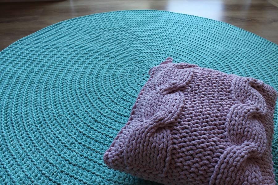 Dywan Ręcznie Tkany Okrągły Morski